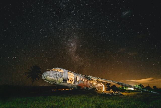 事故にあった飛行機